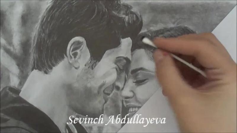 Hayat Murat | Хаят и Мурат Beni cok sev Drawn by Sevinch Abdullayeva