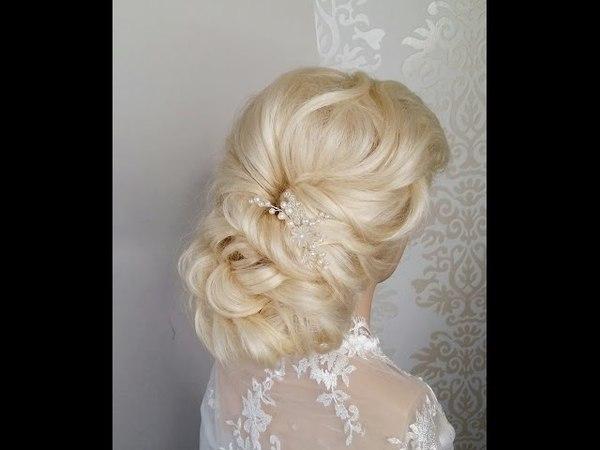 Easy twisted bridal updo tutorial. prom/ wedding hairdo Простая причёска из жгутов