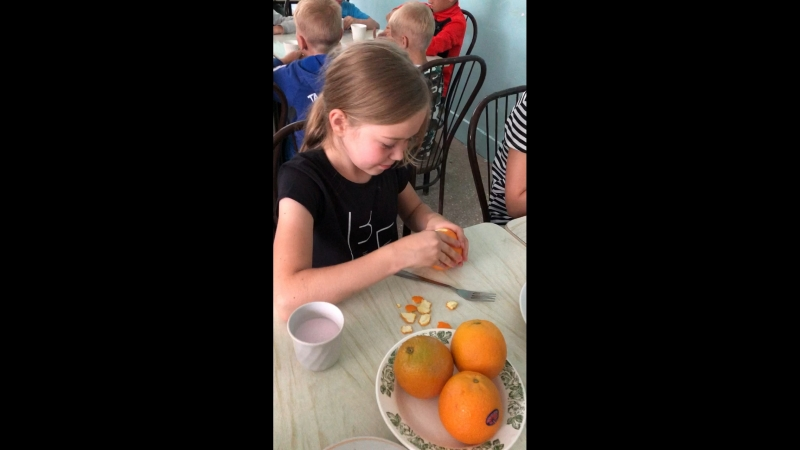 Как мы ели апельсин 🍊