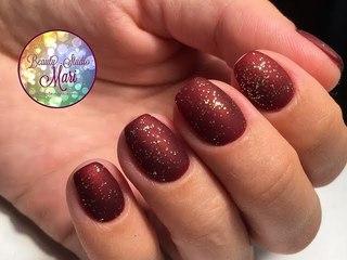 Матовый экспресс-дизайн ногтей с блестками. Супер быстро и просто!