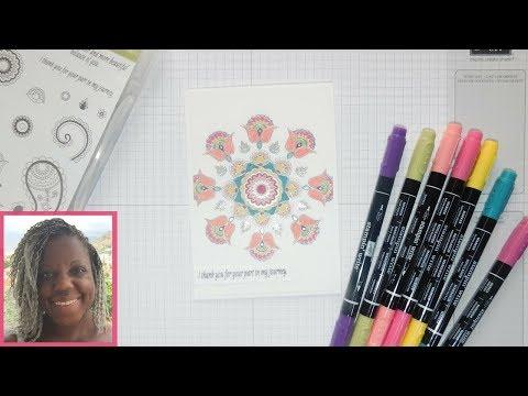 How to make a Mandala card - Paisley's Posies - Stampin' Up!