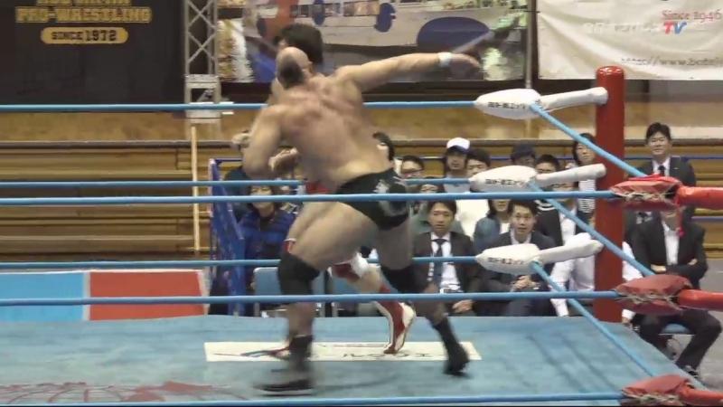 Jake Lee, Dylan James, Koji Iwamoto vs. Kento Miyahara, Naoya Nomura, Yuma Aoyagi (AJPW - Dynamite Series 2018 - Day 3)