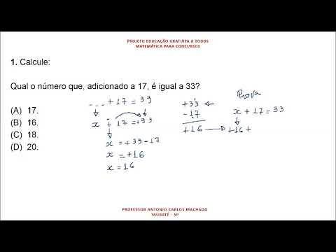 Cálculo Valor Desconhecido Questão 1 Matemática