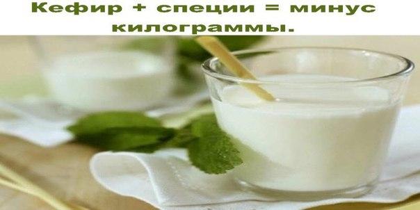 Кефир + специи = минус килограммы.