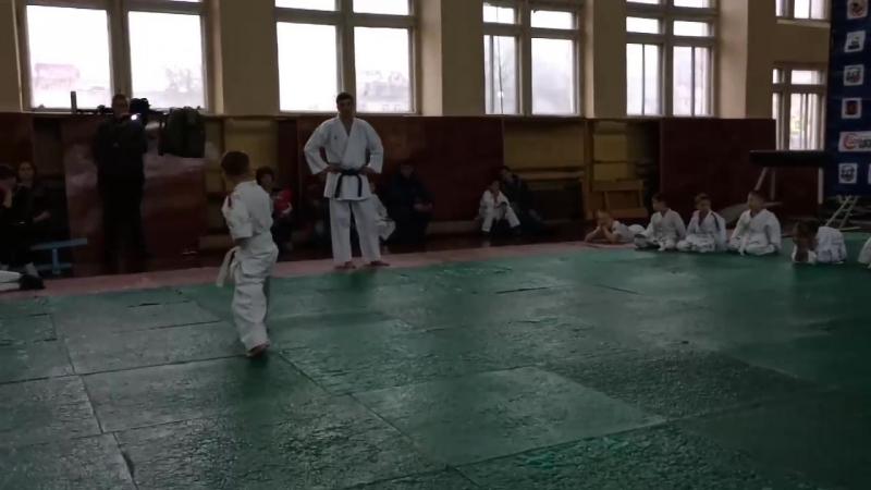Экзамен карате 10КЮ ,сдан в добрый путь сынок.