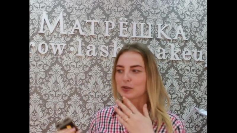 Ирине очень понравилось в студии Матрёшка