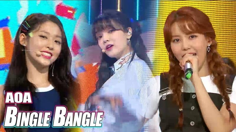 [HOT] AOA - Bingle Bangle , 에이오에이- 빙글뱅글 Show Music core 20180616