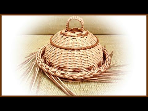 Плетем хлебницу из газетных трубочек! 2 часть! Запись трансляции! 10.08