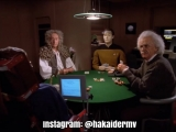 Data joga Poker com Stephen Hawking, Isaac Newton e Albert Einstein - Star Trek TNG (1994)