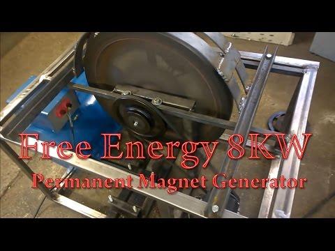 Generator PMG Perpetuum Mobile Free Energy 8KW Test1