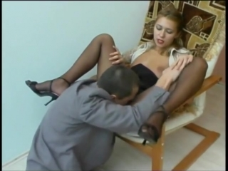 office girl blowjob anal in pantyhose