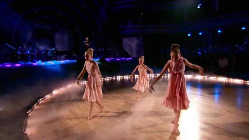 Maddie Ziegler, Brynn Rumfallo and Jacyee Wilkins on Dancing With The Stars 2015