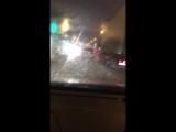 Велосипедист в непогоду в Ростове