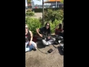 Crashdiet Down With The Dust acoustic live in the streets of Uden Netherlands