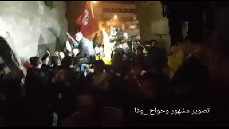 Vidéo : Al-Khalil ( Hébron ) Cortège de la colère lors des funérailles du jeune martyr Mohamed Zine Jabari