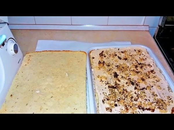 Домашний Легкий Торт с Орехами Вкус Детства . Рецепт / Easy Tasty Nut Cake. Recipe