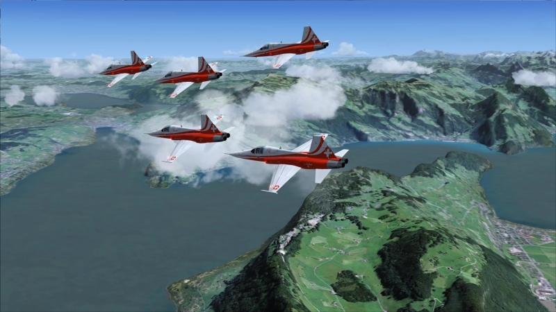Microsoft Flight Simulator patrouille suisse