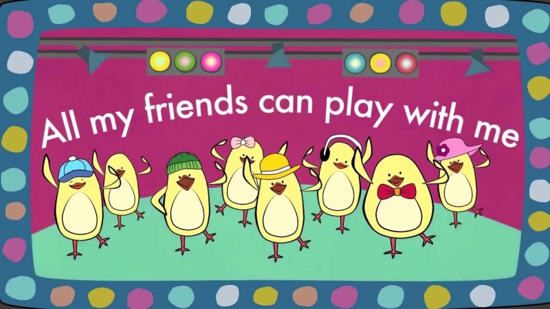 Friends Song - Verbs Song for Kids - The Singing Walrus
