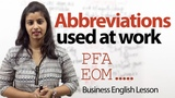Abbreviations used at work Business English lesson