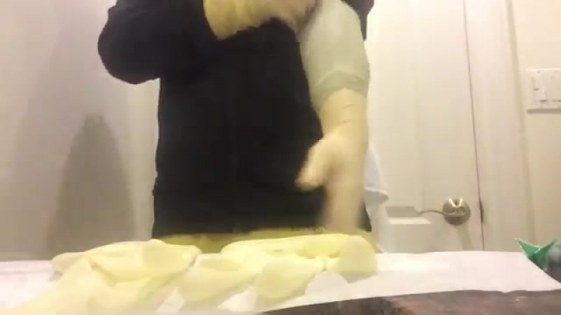 Double latex gloves long surgical gloves gloving