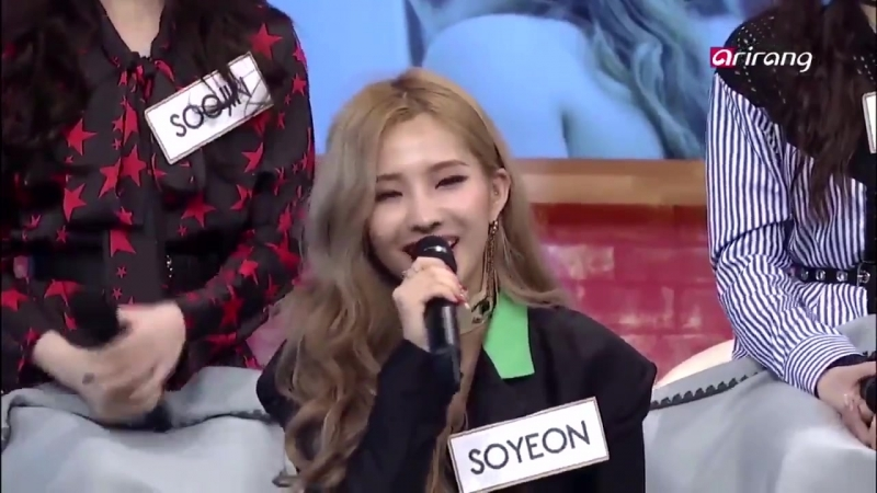 Soyeon introducing herself as idle's leader in english 2018