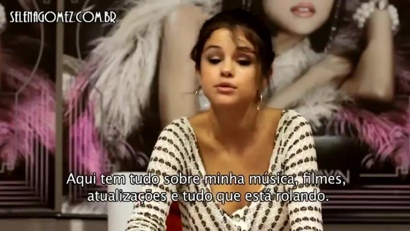 Selena envia mensagem para visitantes do Selena Gomez Brasil