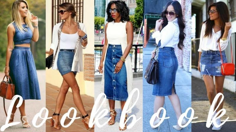 The Best Way To Rock Denim Skirts 2018 Fashion Trends | Lookbook