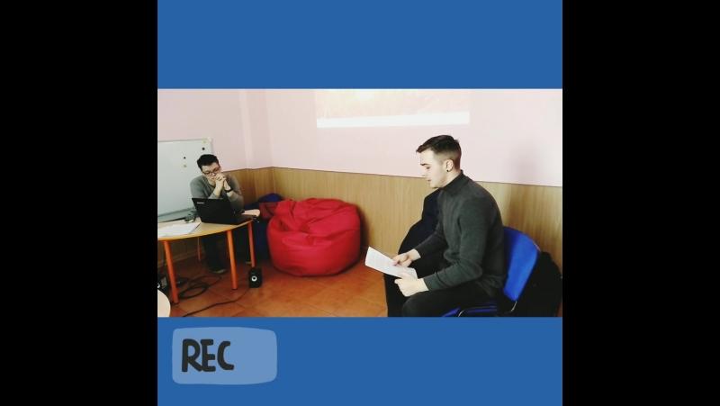 В гостях Андрей Скопинцев. Молодой и подающий большие надежды кинорежиссер.