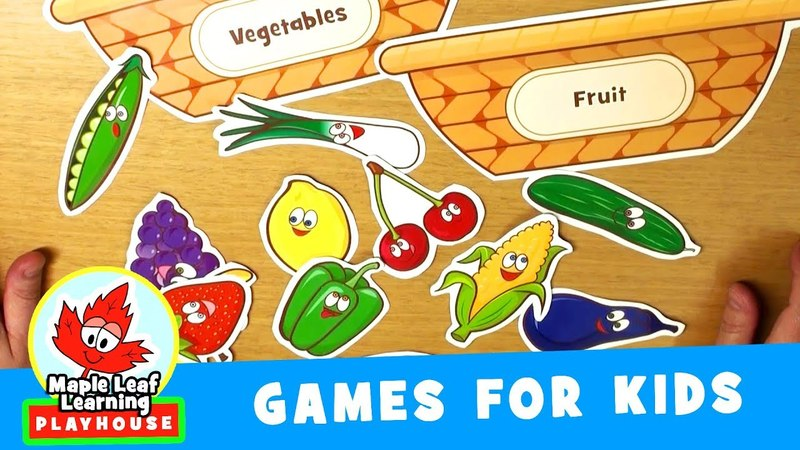 Fruit and Vegetable Sorting Game for Kids | Maple Leaf Learning Playhouse
