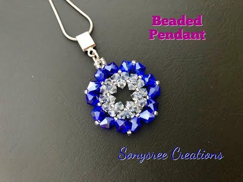 Bicone Beaded Pendant Quick and Easy Project 💞