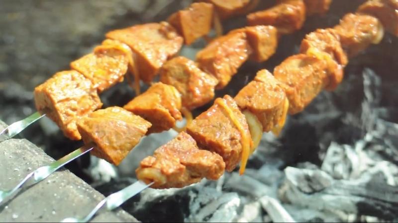 Шашлык из сейтана (веган рецепт)