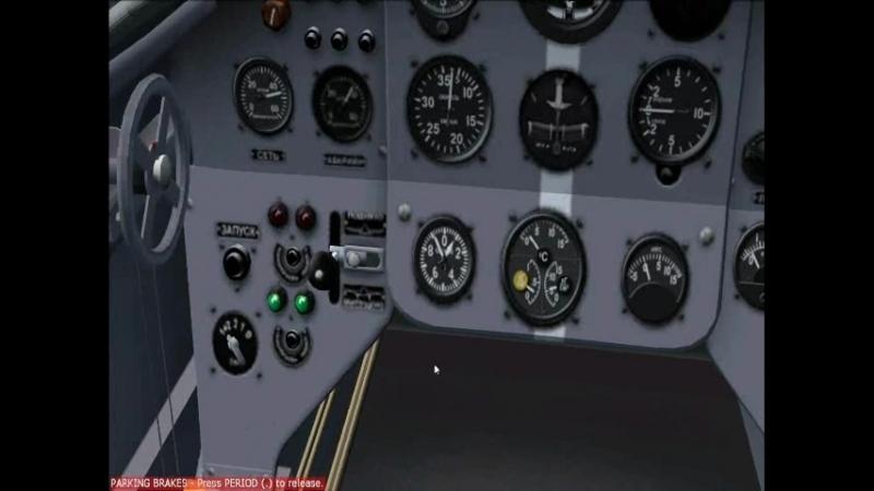Microsoft flight simulator, Як- 18, случайно разбил