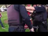 MUST SEE- Antifa Nu-Male Kicks Police Officer Instantly Regrets It-