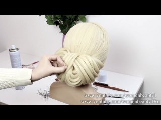 Bridal hairstyle for long medium hair tutorial