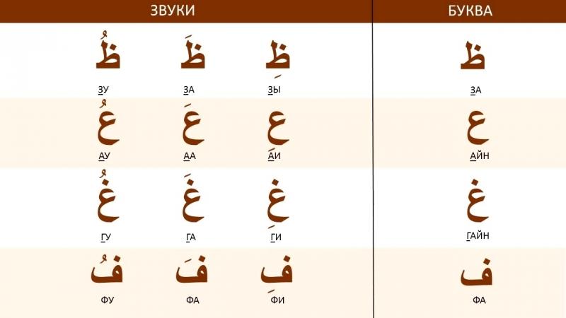 Арабские буквы и звуки. Учим вместе!