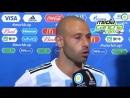 Mascherano confirma su retiro de la Selección Argentina