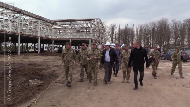 Міністр оборони України перевірив стан виконання будівельних робіт в Одеській області.