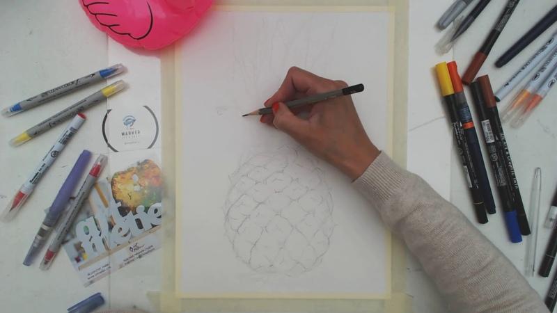 Онлайн-мк Иллюстрация акварельными маркерами