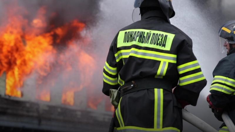 Томские спасатели потушили загоревшийся вагон