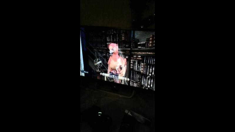 Я глажу птичку Феникс в игре Harry Potter for Kinect для приставки Xbox 360