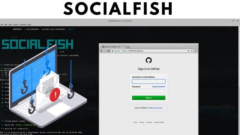 SocialFish - The Ultimate Phishing Tool (Ngrok Integration)✔️