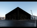 Asif Khan Unveils Darkest Building on Earth For Winter Olympics Pavilion
