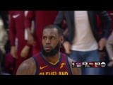 LeBron James throws down the alley-oop