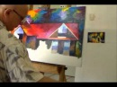 Leonid Afremov painting a commissioned painting - complete video
