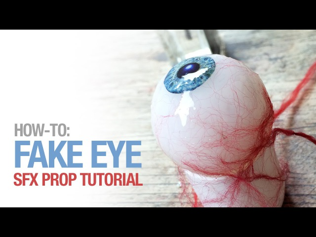 How-to: Fake eye prosthetic