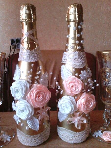 мастер- класс украшение свадебных бутылок… (2 фото) - картинка