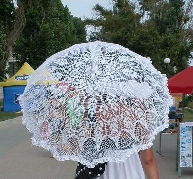 Ажурный зонт крючком.Схему