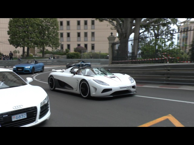 Koenigsegg Agera R - Amazing Acceleration Sound in Monaco!!