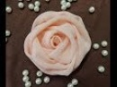 DIY chiffon rose fabric rose tutorial how to make