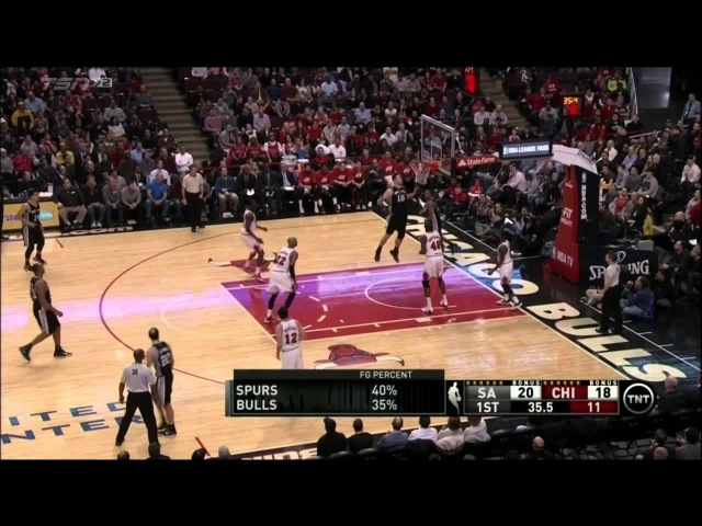 Manu Ginobili's awesome assist against Bulls